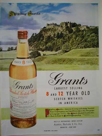 Grant's Scotch 8 – 12 year old Stirling Castle (1953)