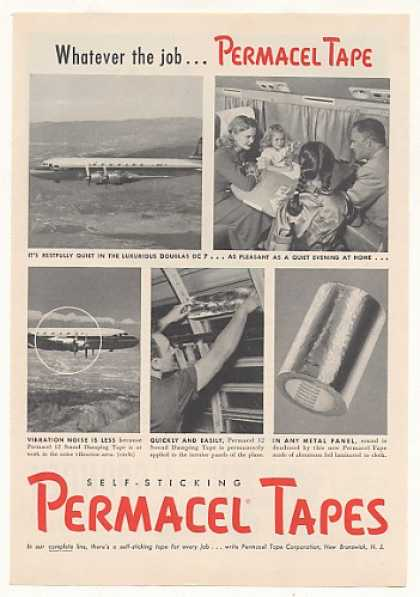 Douglas DC-7 Airplane Permacel Tape Photo (1954)