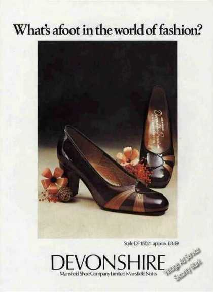 Devonshire &quot;What&#8217;s Afoot?&quot; Shoe Fashion (1975)
