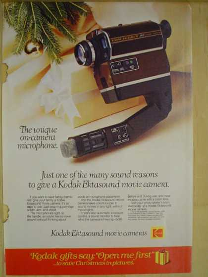 Kodak On camera microphone Ektasound movie cameras (1977)