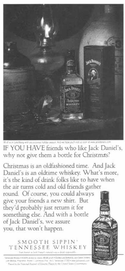 Jack Daniel's – a bottle for Christmas (1998)