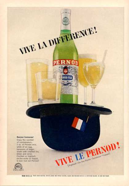 Pernod Fils Bottle Print (1964)