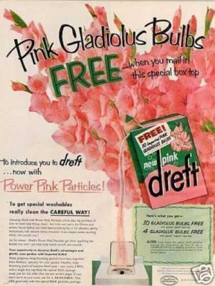 Dreft Pink Soap Detergent (1957)