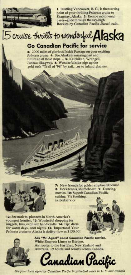 Canadian Pacific's Alaska – 15 cruise thrills to wonderful Alaska (1952)