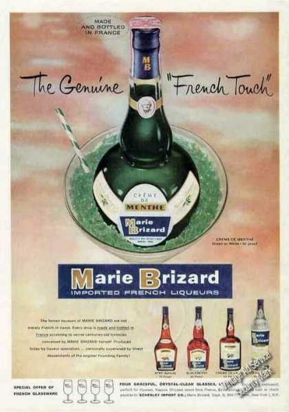 "Marie Brizard Liqueurs ""French Touch"" (1960)"