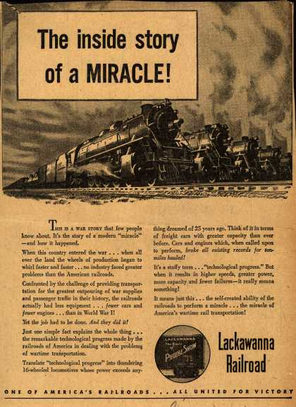 Lackawanna Railroad – The inside story of a Miracle (1945)