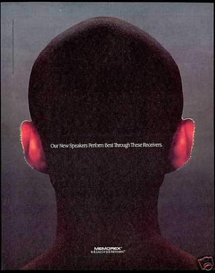 Memorex Speakers Human Head Ears Receivers (1991)