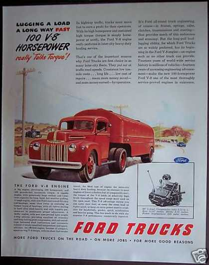Ford Trucks V-8 Engines (1946)