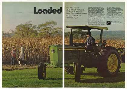 John Deere 2630 Tractor Loaded 2-Page Photo (1974)