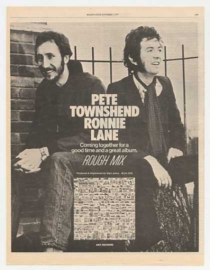 '77 Pete Townshend Ronnie Lane Rough Mix Promo Photo (1977)