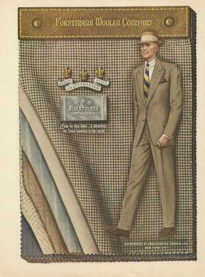 Forstmann Virgin Wool Mens Suit (1948)