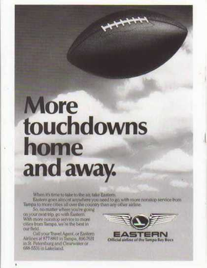 Eastern Air Lines – Official Airline of Tampa Bay Bucs (1985)