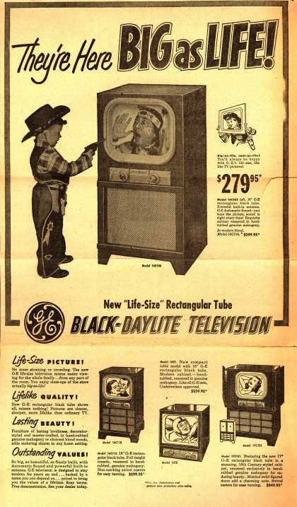 General Electric Company's Black-Daylight Television – They're Here Big as Life (1950)
