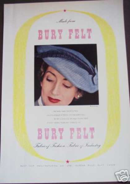 Bury Felt Mfg Co Uk Fabric Textile Trade (1949)