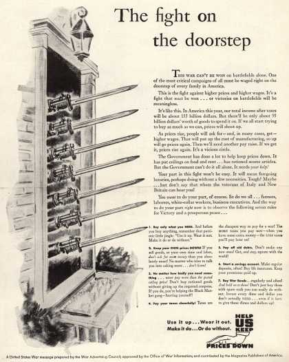 War Advertising Council's Anti-inflation – The fight on the doorstep (1944)