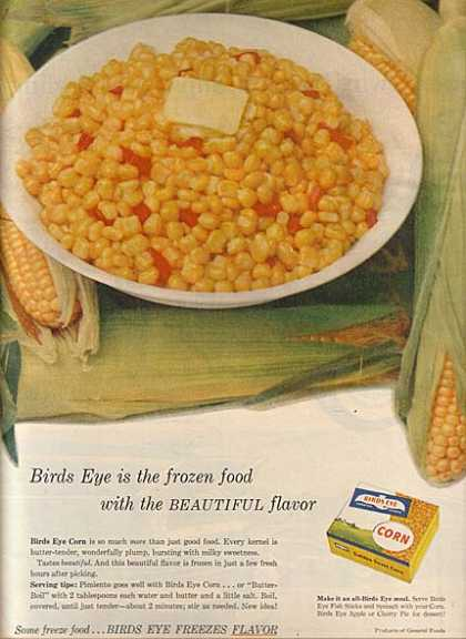 Birds Eye's Frozen Corn (1956)