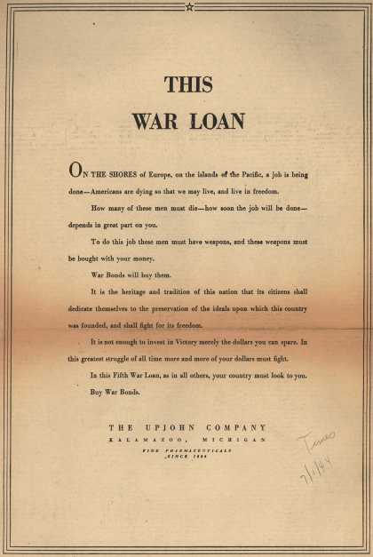 Upjohn Company's War Bonds – This War Loan (1944)