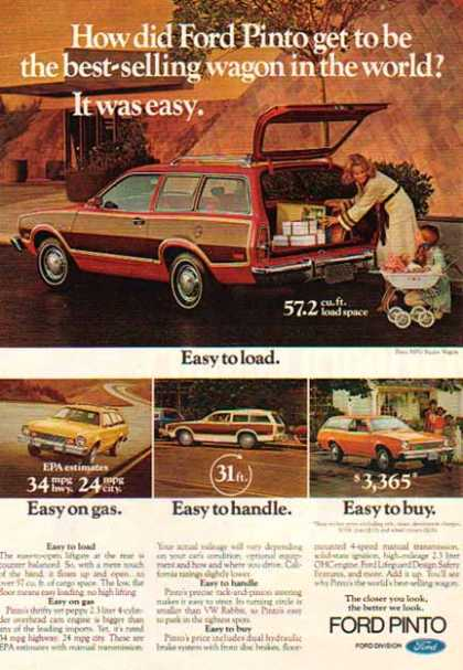 Ford Car – Ford Pinto Wagon / Red with panels (1978)