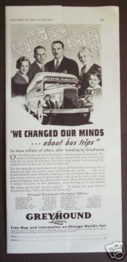 Greyhound Lines Bus Trip Ny- La Original (1933)