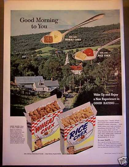Wheat Chex, Rice Check Cereals Scenic Scene (1953)