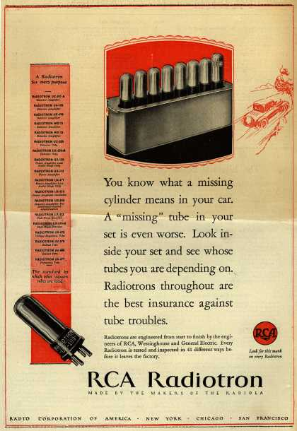 RCA Radiotron's Radio Tubes – A Radiotron for Every Purpose (1927)