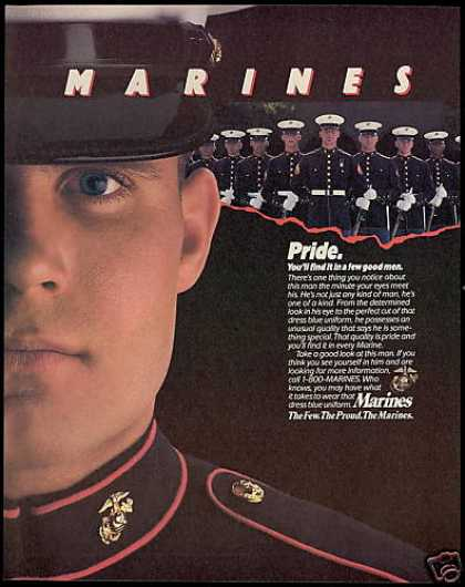 U.S United States Marines Recruitment Pride (1989)