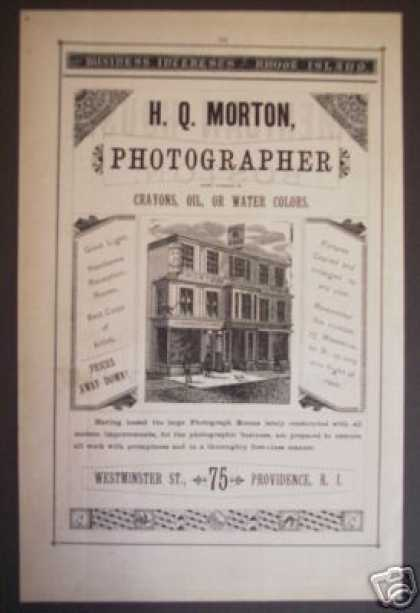 H. Q. Morton Photographer Providence Ri (1881)