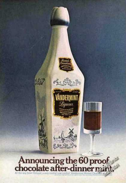Vandermint Liqueur Chocolate After-dinner Mint (1967)