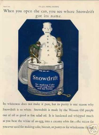 Snowdrift Shortening Color (1925)