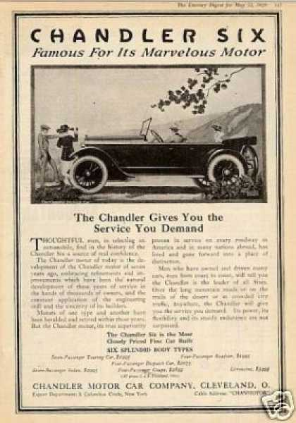 "Chandler Six Car Ad ""The Chandler Gives You... (1920)"
