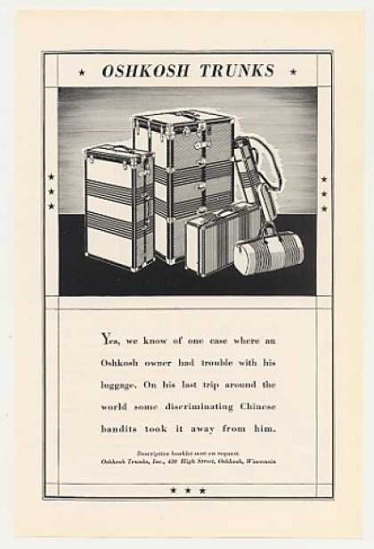 Oshkosh Trunks One Owner had Trouble (1931)