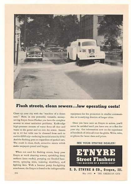 Etnyre Street Flusher Truck Photo (1955)