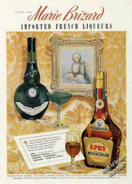 Marie Brizard Imported French Liqueurs (1950)