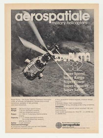 Aerospatiale Super Puma Helicopter Photo (1982)