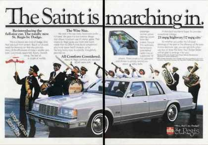 Dodge St. Regis Photo Nice Marching Band (1979)