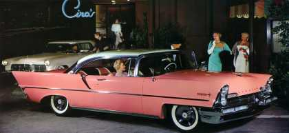 Lincoln Premiere in Starmist White over Flamingo (1957)