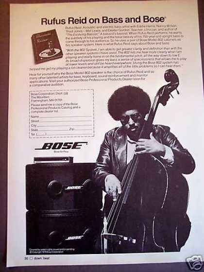 Bass Player Rufus Reid Bose 802 Sound System (1980)