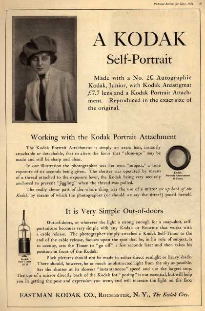 Kodak – A Kodak Self-Portrait (1921)