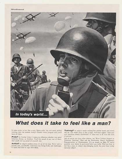 Army Combat Arms Feel Like A Man Soldiers (1962)