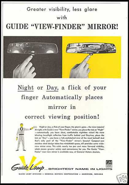 GM Guide Car View Finder Mirror (1957)