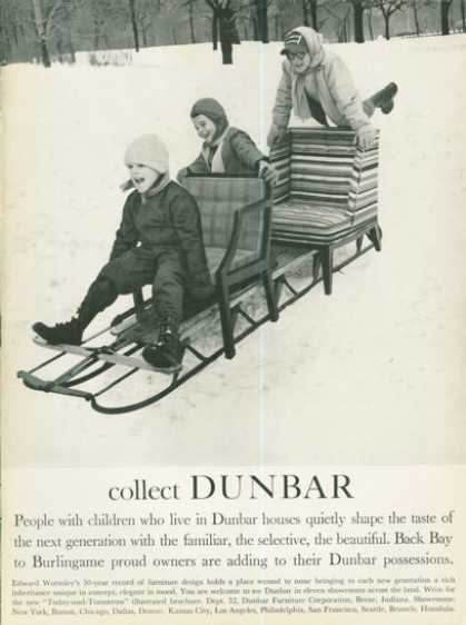 Dunbar Furniture Fashion Chair Snow Sled (1961)