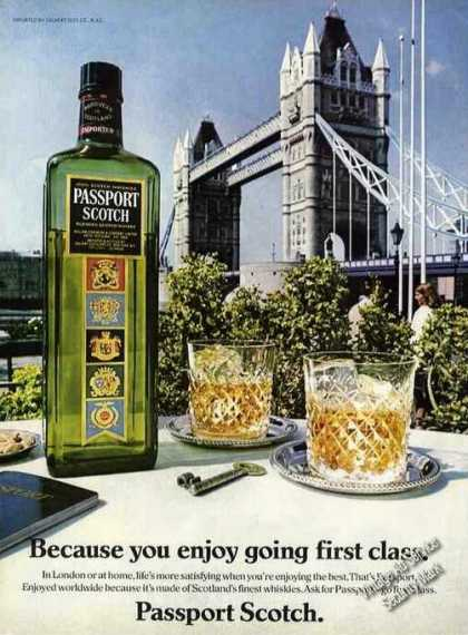 Passport Scotch Going 1st Class London Bridge (1982)