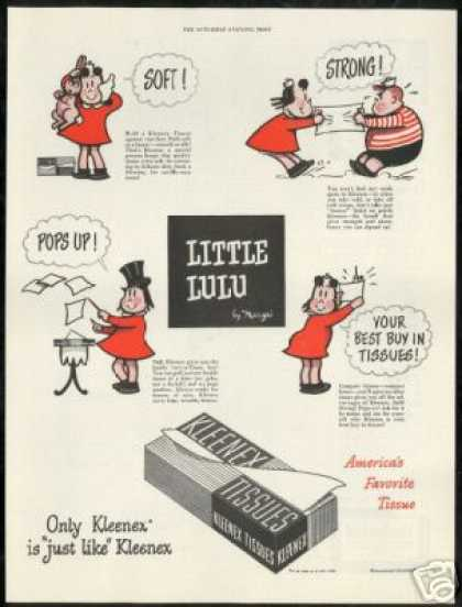 Little Lulu Marge Art Vintage Kleenex Tissue (1949)