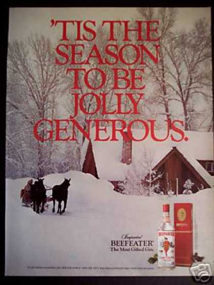 Winter Holiday Season Photo Beefeater Gin (1985)