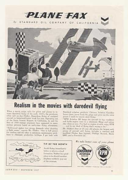 Joe Pfeifer 30's Daredevil Flying Movie Chevron (1957)