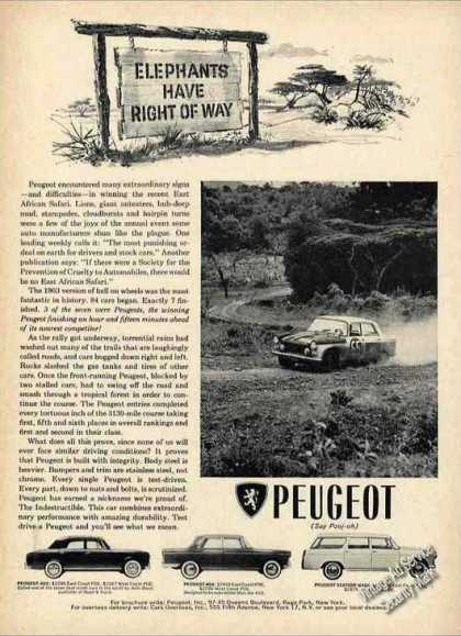"Peugeot ""Elephants Have Right of Way"" Car (1964)"