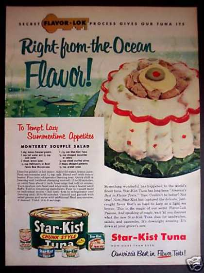 Star-kist Tuna Monterey Souffle Salad Recipe (1955)