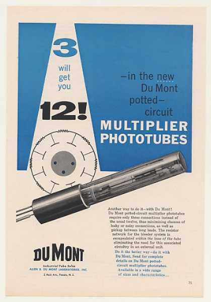 Du Mont Potted-Circuit Multiplier Phototube (1958)