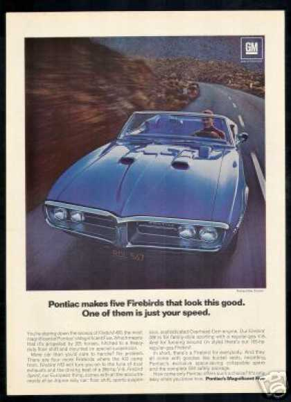 Pontiac Firebird 400 Convertible Car (1967)