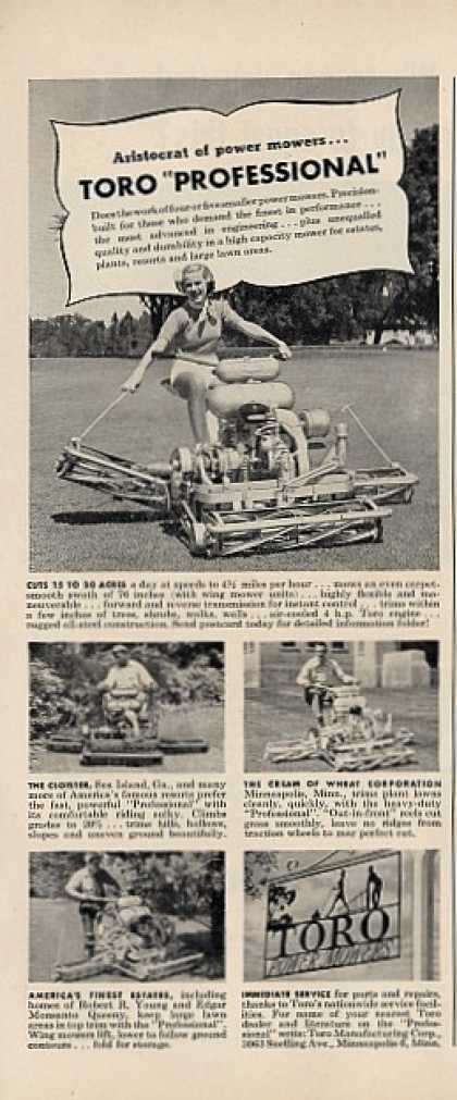 Toro Power Mower Professional (1950)